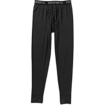 """Russell Men's Performance Active Baselayer Thermal Pant / Bottom (Large (Waist 36""""-38""""), Black)"""
