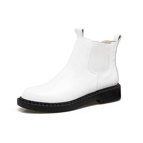 Chelsea Stiefel Mode Kopf Runde Stiefel Damen WJNKK xgq4zHCw