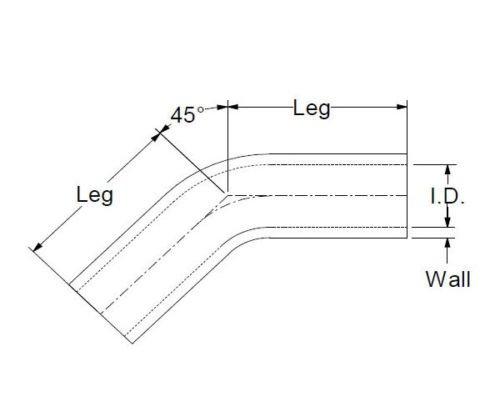 45 Grad Silikonbogen 45/° ID 25mm Silikonschlauch Bogen Silikon Schlauch SCHWARZ