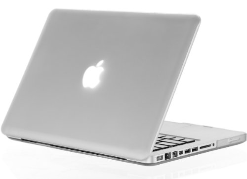 Kuzy - Soft Touch Plastic Case for Older MacBook Pro 15.4 inch Model A1286 with DVD Drive Glossy Display Matte Cover - Frosted Clear