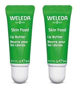 Weleda Naturals Skin Food Lip Butter (Pack of 2) with Sunflower Seed, Rosemary, Chamomile, Calendula, Limonene, Linalool and Geraniol, 0.27 fl. oz. Each