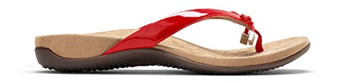 Toepost Sandal Vionic Rest Red Women's Patent Bellaii 8wnUTpq