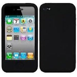 buy popular c7c4b fa6f9 iPHONE 4/4s BLACK SILICONE COVER/CASE: Amazon.co.uk: Electronics
