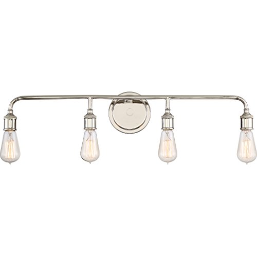 Quoizel MNO8604IS Menlo 4-Light Bath Light, Imperial Silver