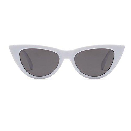 Estilo Gris Moda Lente C5 Mujer Enorme de Gafas Retro Bisagra Rock gato primavera UV400 de Gafas sol 9 Marco para Ojo Escoger de Blanco Color Hzjundasi UqdgSAS