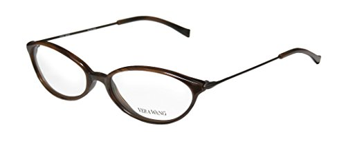 Vera Wang V11 Womens/Ladies Prescription Ready Hip & Chic Designer Full-rim Eyeglasses/Eyeglass Frame (51-16-140, - Face Shape Eyeglass Frames