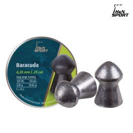 Haendler & Natermann 25 Cal 31.02 Grains Round Nose Baracuda Airgun Pellets