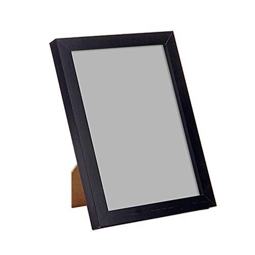 Price comparison product image Simple Retro 7 Inch Wooden Wall Photo Frames DIY Painting Framed Bilderrahmen for Home Desktop Decoration, Black, 7 Inch