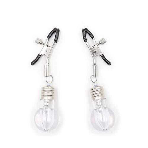 (Color Bulb Short Mimi Clip Black Plastic Cap Adjustable Flirting Toy Accessories Accessory Brooch BDSM Accessory clamp)
