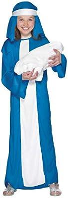 Smiffys Smiffys-23837M Disfraz de Virgen María para niña, con ...
