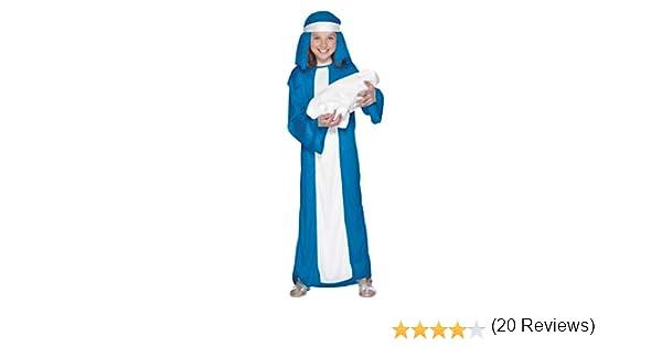 SmiffyS 23837S Disfraz De Virgen María Para Niña Con Vestido Y ...