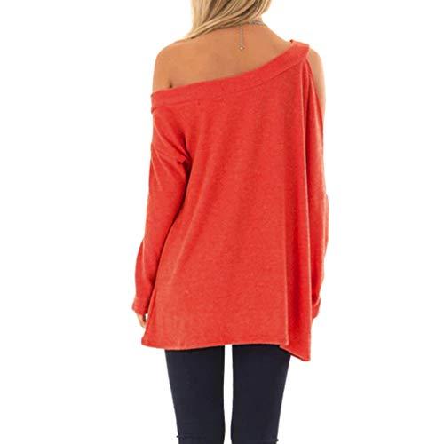 Naranja top Sólido Color Mujer Fiesta Blusas xl Verano Tops s tops Beikoard Para Mujer De Halter pndtqZ