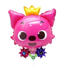 Pinkfong Pink Fox Balloon with Pinwheel Birthday Picnic Party Supplies