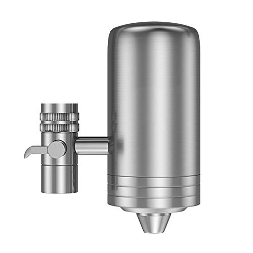 AMOYEE Water Faucet Filter System, Integral Forging of Food Grade 304 Stainless Steel Tap Water Purifier Tap Water Mount Filter with Double Outlet to Reduced Chlorine and Improve Hard Wat