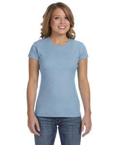 eck 1x1 Rib T-Shirt B1001, Medium, Baby Blue (1x1 Rib Crew Tee)