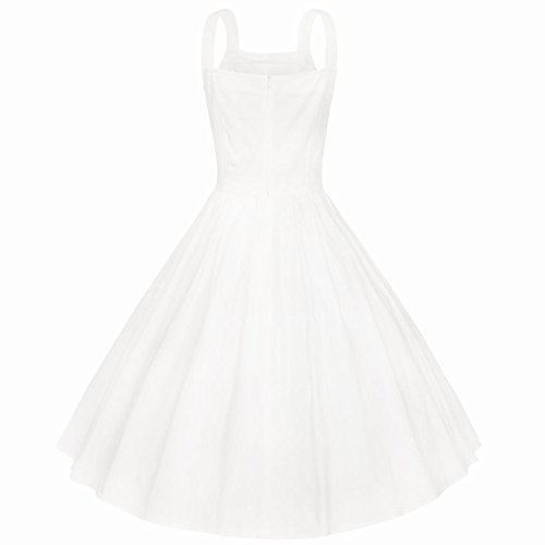 Kleid der L Kleid Einreihiges Weißen C Jährliche Ereignisaktivität der Weißen Baumwolle Kleides Band Kleines des Y Großes CCrv5wnZx