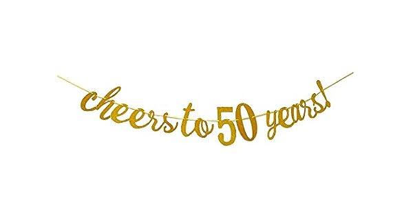 Amazon.com: Cheers a 50 años Banner – Happy 50th fiesta de ...