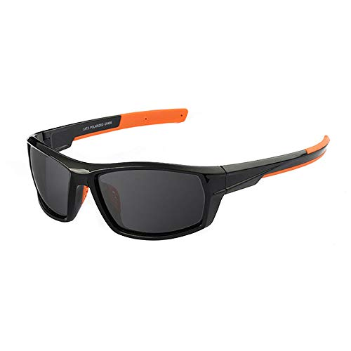 Sports Polarized Sunglasses for Men Women Camouflage Frame for Fishing Sports Hunting (Black&Grey)
