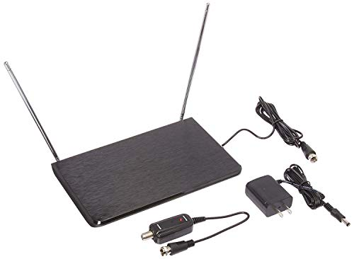 General Electric 34342 Router-Style Amplified Indoor Antenna, Black