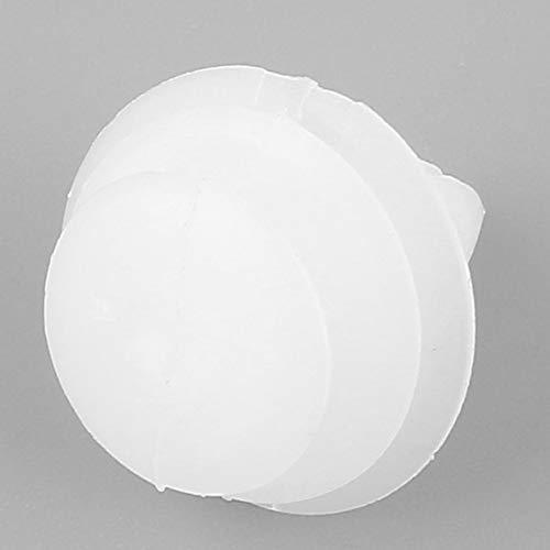 Jpstyle 50Pcs 8mm Tappi per autoveicoli universali Foro Vite di Spinta in plastica Rivetto Porta Fibbia Pannello Elementi di Fissaggio Clip Bianco per Auto Auto