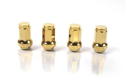 GOLD - JSK - 7-Sided Heptagon - Plated Steel Racing Wheel Lock LUG NUT for MITSUBISHI 2002-2007 LANCER PZ, RALLY, RALLIART