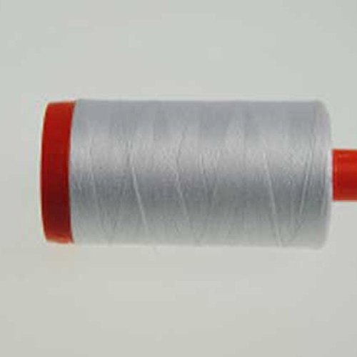 Aurifil Mako Cotton 12 Weight 2 Ply Large Spool 386 Yards 325 Meters White