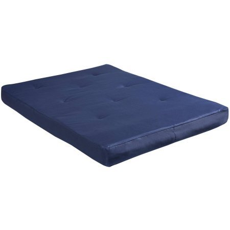 """8"""" Full Size Futon Mattress Navy Constructed with a"""