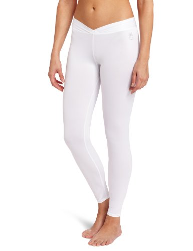 Snow Angel Women's Cybersilk Thermal Legging, White, X-Large