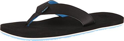 Reef Mens Reef Surform Sandal Black/Blue Size 12