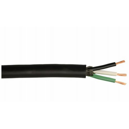 Coleman Cable 233280408 12/3 250-Foot SJEOOW Seoprene Service Cable, Black ()