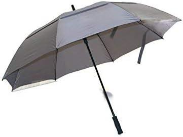 Play Covered Huge Golf Umbrella 68 inch Windproof Fiberglass Shaft Gray Big Umbrella [並行輸入品]