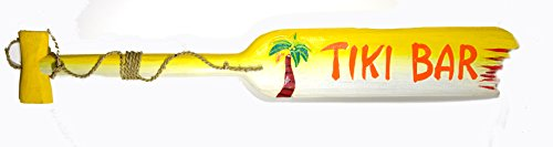 "39"" Hand Carved Tiki BAR Palm Tree Wooden Wall Hanging Paddle Oar Art Sign"