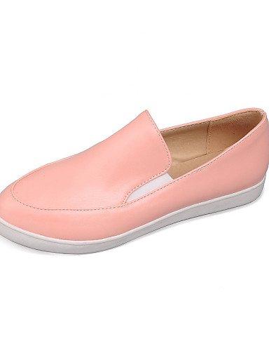 mujer uk3 cn35 uk6 Semicuero pink cn39 Plano ZQ us5 us8 pink Rosa 5 Casual 5 Negro gyht Blanco eu39 eu36 cn39 eu39 Punta de uk6 Redonda Tacón us8 Mocasines Zapatos pink qvvfwt6A