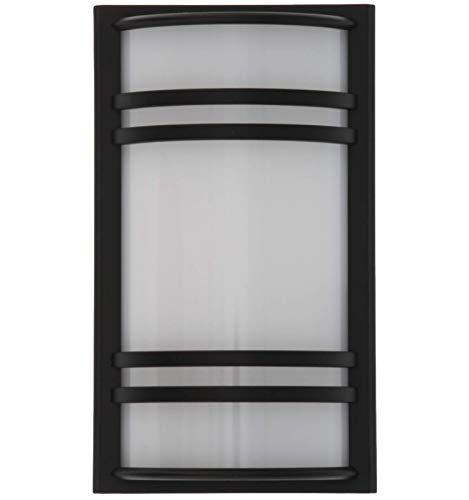 Black Light Night - Capstone Dusk to Dawn LED Plugin Night Light - Automatic Dusk to Dawn Sensor Feature, Decorative Sconce Lights Up Your Home, No Batteries Needed - Covers Unused Outlets, Parallel, Black