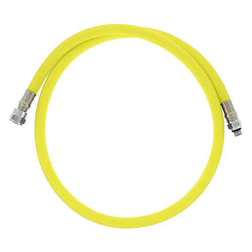 DGX Regulator Hose, Flex, 40 in | 102 cm}, Yellow