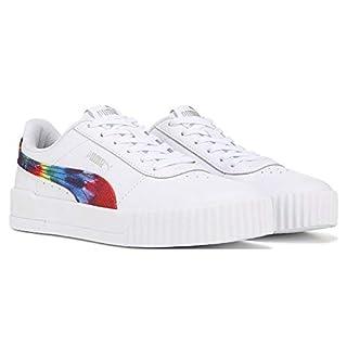 PUMA Women's Carina Sneaker (puma White-Metallic Silver (Tie Dye), Numeric_8_Point_5)