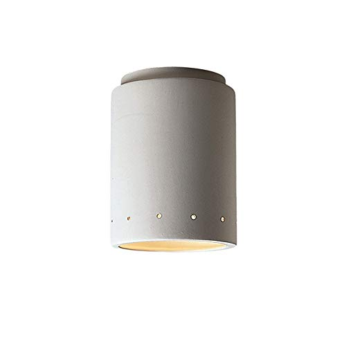 Justice Design Group Lighting CER-6105W-BIS Group Lighting White Finished Outdoor Flush-Mount with Ceramic Bisque ()