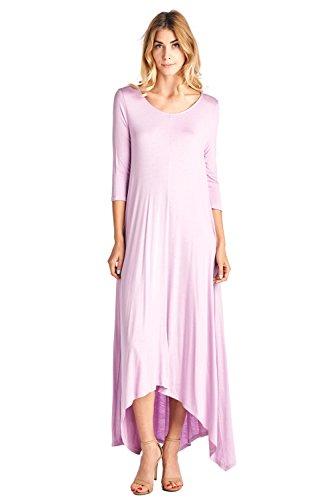 eve Pocket Loose Maxi Dress Lilac 2X ()