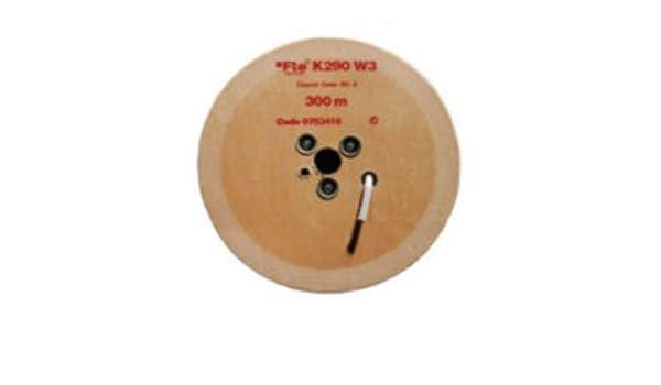 Fte-maximal k 290 w3 - Cable coaxial 750h diámetro 4,6 k290w3 pvc blanco: Amazon.es: Bricolaje y herramientas