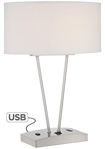Leon Metal Table Lamp With Usb Port And Utility Plug F Led Lights