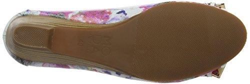 Moda In PelleGabrio - Zapatos con tacón mujer Multicolour (Floral)