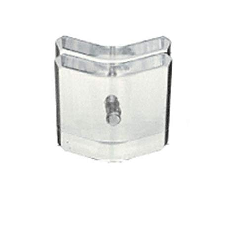 C.R. LAURENCE AMC135 CRL Clear Acrylic 135 Degree Mall Glass Clamp