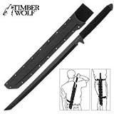 """26"""" Tang Ninja Sword w/ Shoulder Sheath"""
