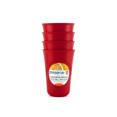 Preserve Everyday Cups - Pepper Red - Case Of 8 - 4 Packs