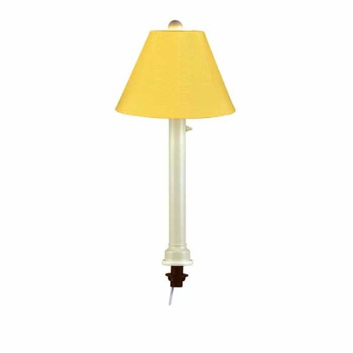 Patio Living Concepts Catalina 28 in. Bisque Umbrella Outdoor Table Lamp with Buttercup Shade (Lamp Table Bisque Outdoor)