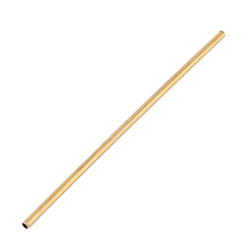 Round Brass Tube Pipe Tubing oute Diameter 5mm Long 200mm Wall 0.5mm for DIY Craft Tool