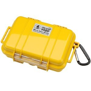 Pelican 1020 Watertight Hard Micro Case with Rubber Liner - Yellow