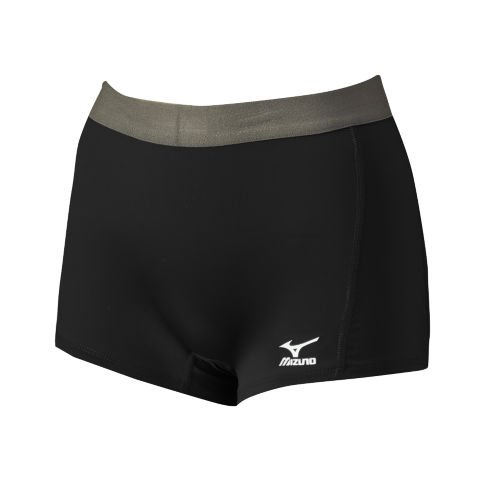 Mizuno Women's Flat Front G2 Shorts, Black, X-Large