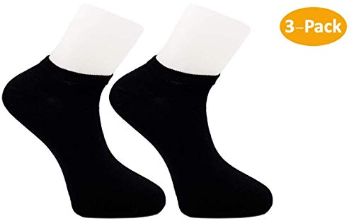 (1Sock2Sock Zeus Classic Ankle No-Show Training Socks (3-Pack) | Soft Cotton Blend Made with Premium Turkish)