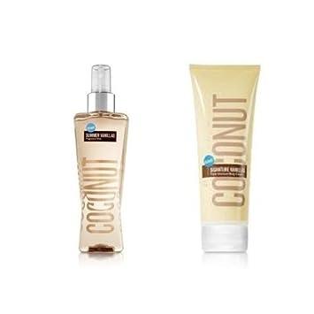 Bath Body Works Signature Vanillas Coconut Gift Set Body Cream Fragrance Mist. Lot of 2